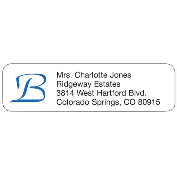 Script Initial Personalized Address Labels