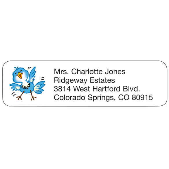 Bluebird Personalized Address Labels