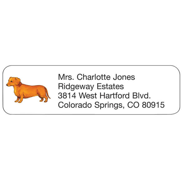 Dachshund Personalized Address Labels