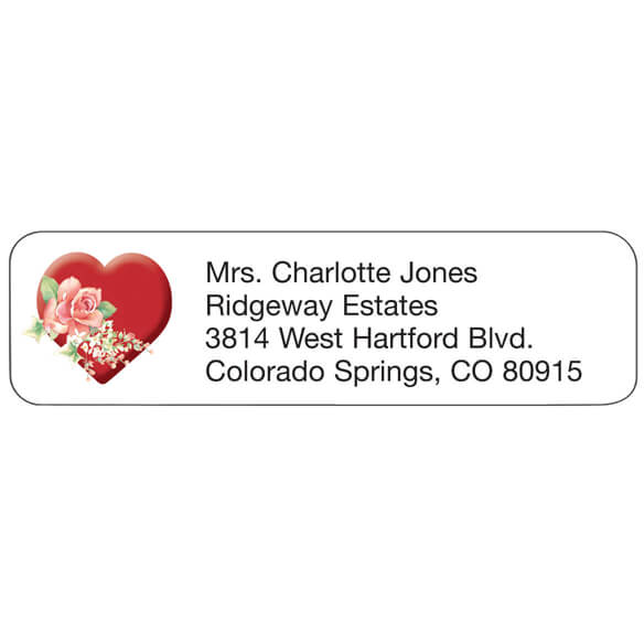Heart Personalized Address Labels