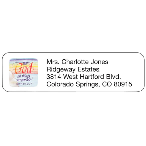 Religious Personalized Address Labels