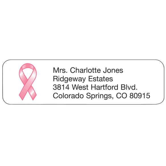 Pink Ribbon Personalized Address Labels