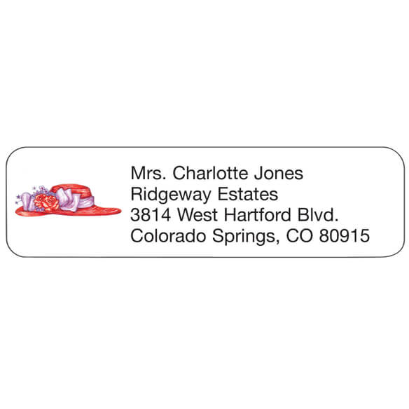 Red Hat Personalized Address Labels