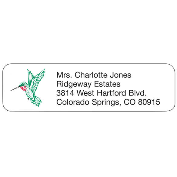 Hummingbird Personalized Address Labels