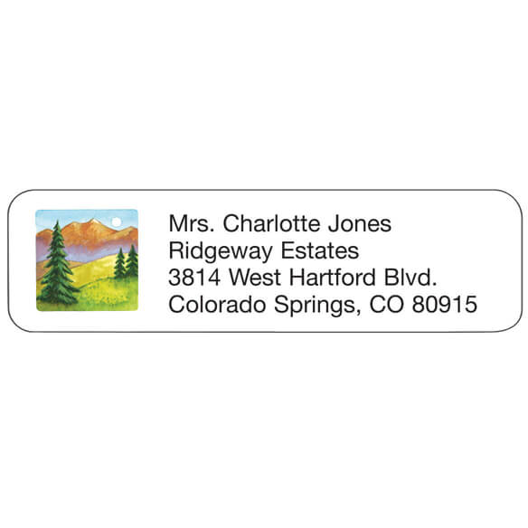 Mountain Scene Personalized Address Labels