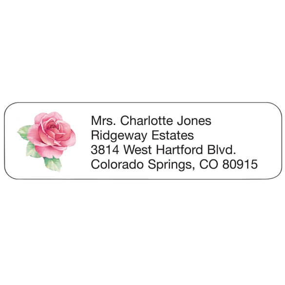 Pink Rose Personalized Address Labels