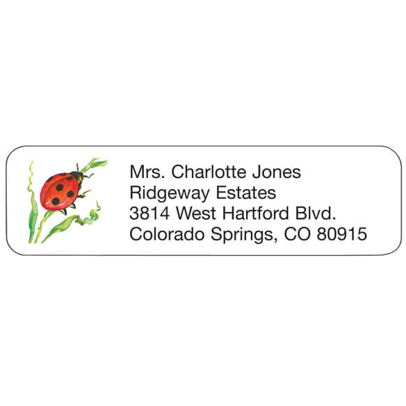 Ladybug Personalized Address Labels