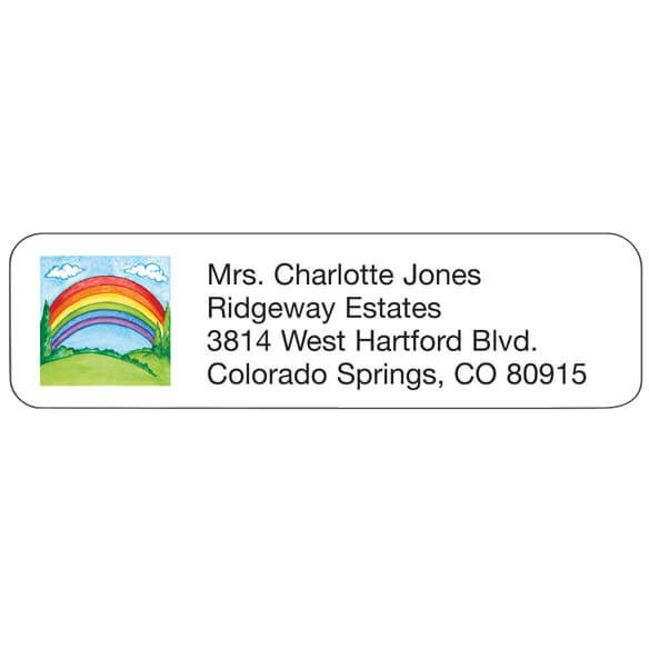 Rainbow Personalized Address Labels