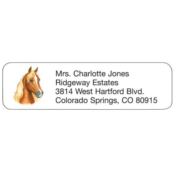 Horse Personalized Address Labels