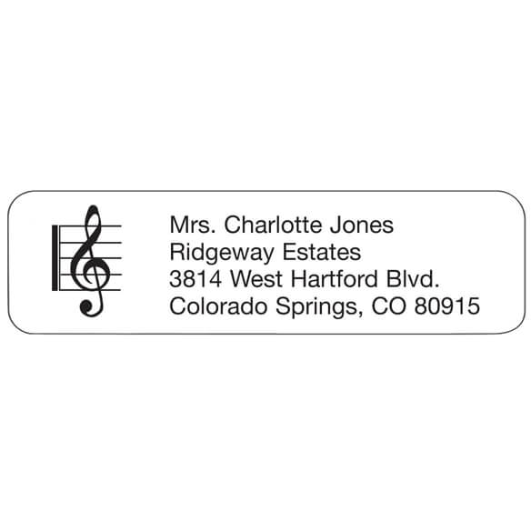 Treble Clef Personalized Address Labels