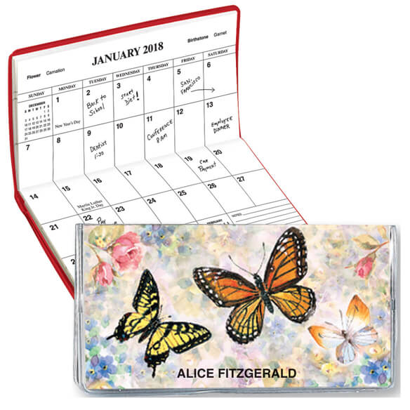 Butterflies 2 Year Personalized Planner