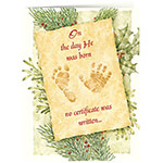 Christmas Cards - Personalized Christmas Certificate Card Set of 20
