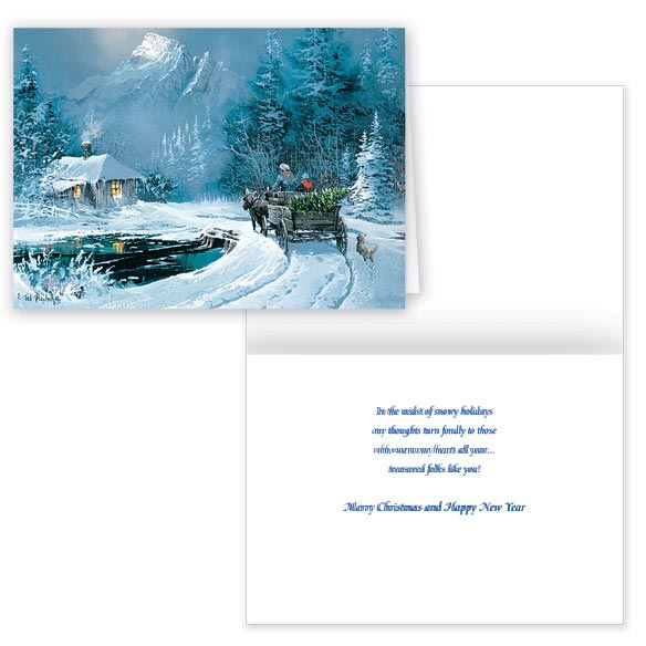 Blaylock Winter Wagon Ride Christmas Card - Set of 20