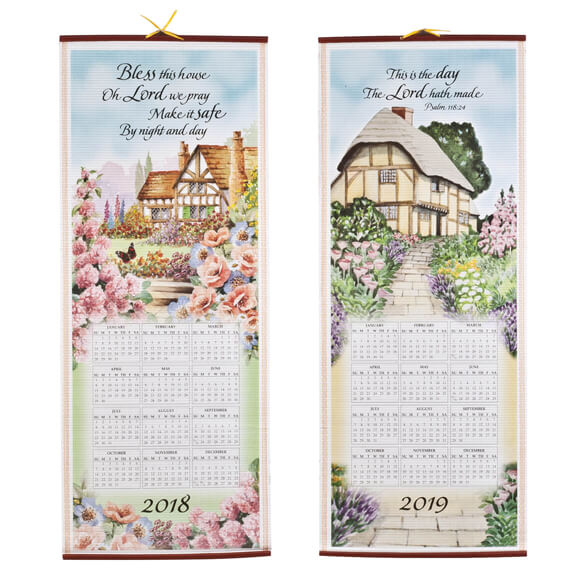 Bless This House Wall Scroll Calendar