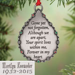 Decorations & Storage - Personalized Teardrop Memorial Ornament