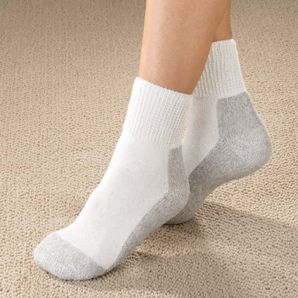 Women's Diabetic Sports Socks - 2 Pair - View 1