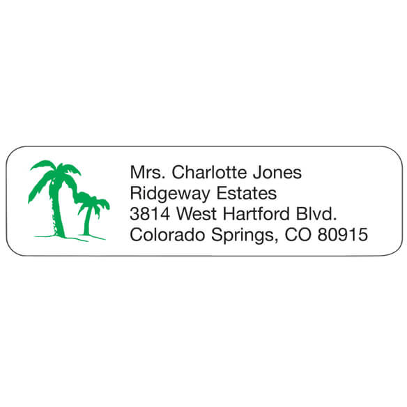 Palm Tree Address Labels - Address Labels - Walter Drake