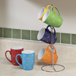 Flash Sale - Polka Dot Mug Set with Stand