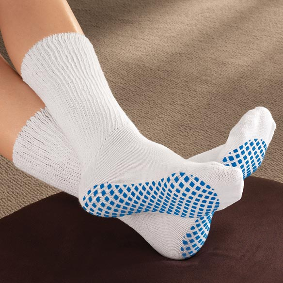 Diabetic Slipper Socks With Gripper Soles - View 1
