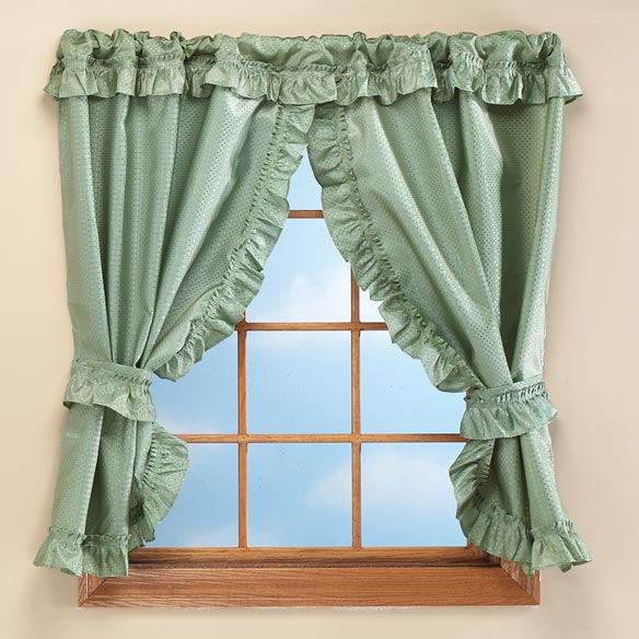 "70""W x 45""H Bathroom Window Curtains - View 1"