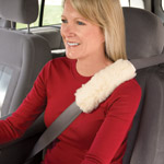 Safe Summer Travel - Sherpa Seat Belt Covers - Set Of 2