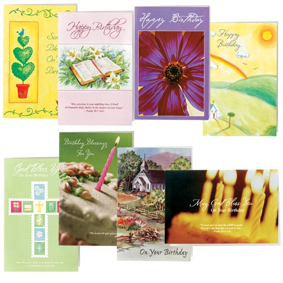Christian Birthday Cards - Set Of 24 - View 1
