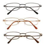 Eye, Ear & Throat - Spring Hinge Reading Glasses - Set of 3