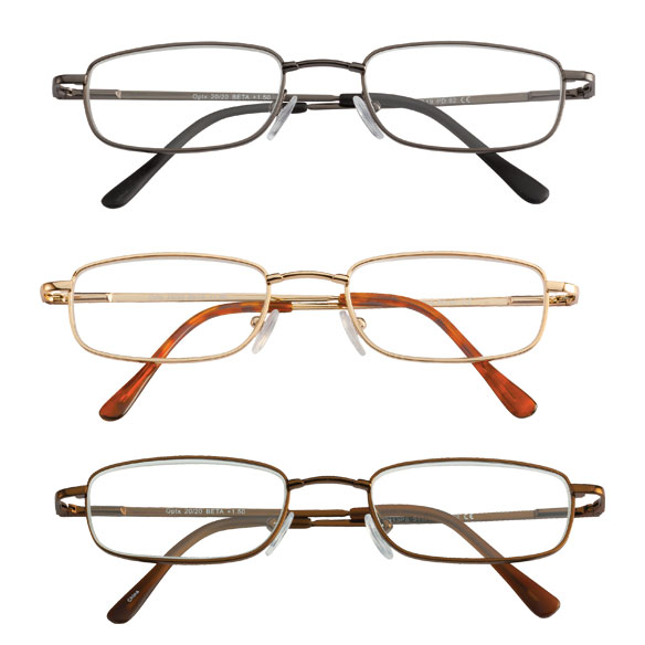 Spring Hinge Reading Glasses - Set of 3 - View 1