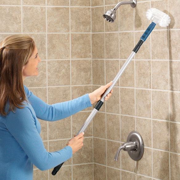 Bathroom Scrubber Brush Long Handle Bath Tub Cleaner