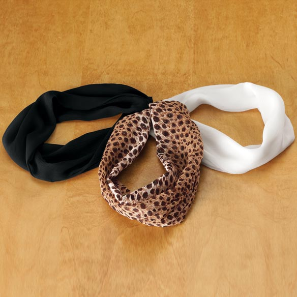 Nec-Cessories® Magnetic Neck Cowl Scarves - Set Of 3