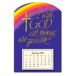 World Religion Day  - Mini Magnetic Calendar With God