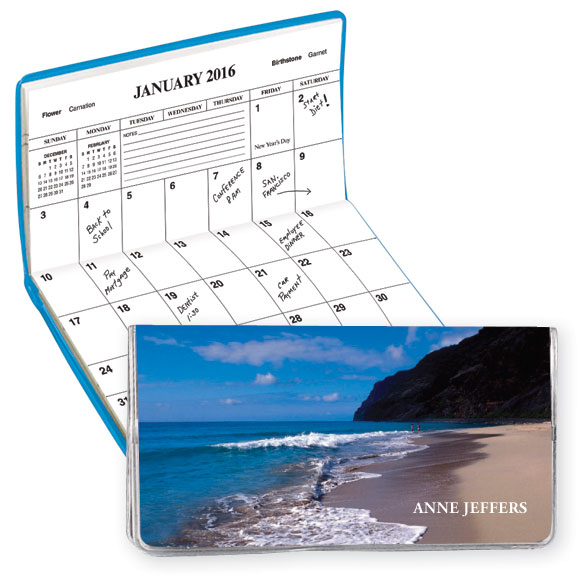 Beach Scene 2 Year Personalized Planner