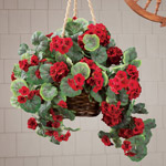 Lawn & Garden - Artificial Geranium Hanging Bush