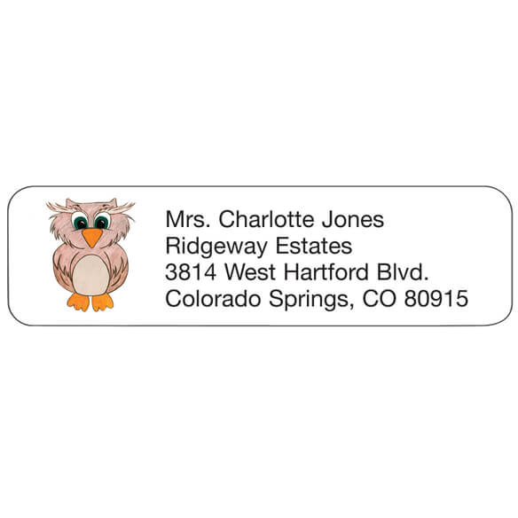 Owl Personalized Address Labels