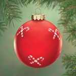 Holidays & Gifts Sale - Candy Canes Glass Ball Ornament