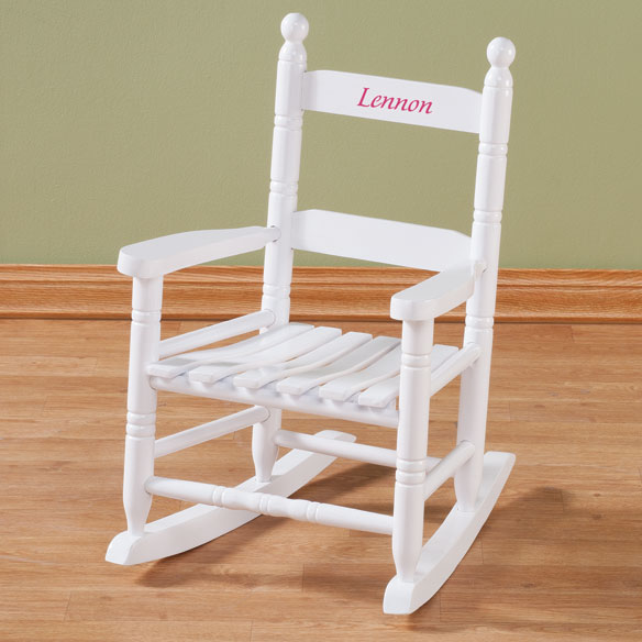 Personalized Child's White Rocker - View 1