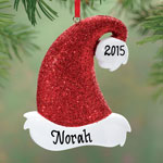 Decorations & Storage - Personalized Santa Hat Ornament