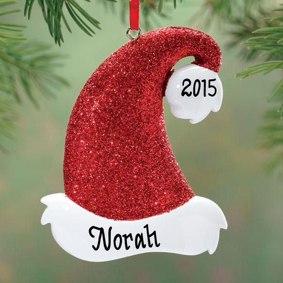 Personalized Santa Hat Ornament
