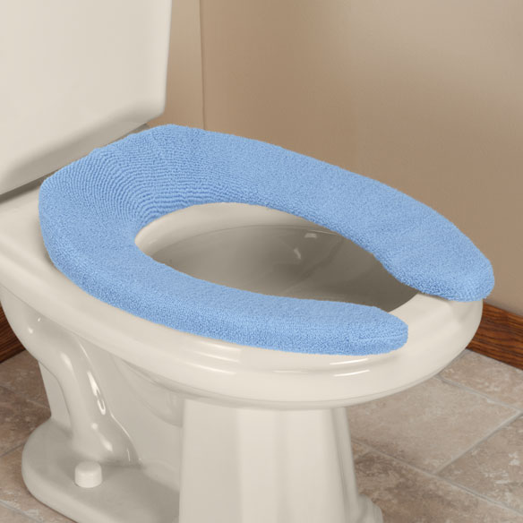 Elongated Toilet Seat Cover Sherpa  Cushioned Walter Drake