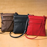 Quick Gift Ideas - Leather Crossbody Messenger Bag