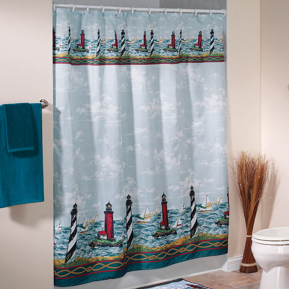 Lighthouse Shower Curtain - View 1