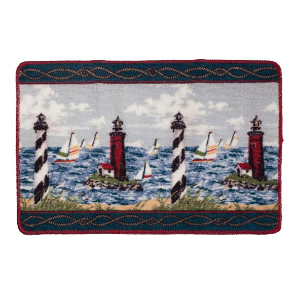 Lighthouse Bath Mat - 2 Piece Set