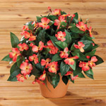 Lawn & Garden - Artificial Impatiens Bush