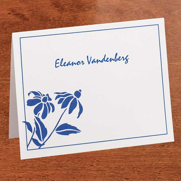 Personalized Wildflower Cards