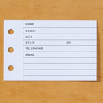 Printed Design Address Book Refills - Set of 100