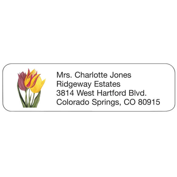 Tulip Personalized Address Labels
