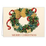 View All Sale - Butterfly Wreath Embossed Christmas Card Set of 20