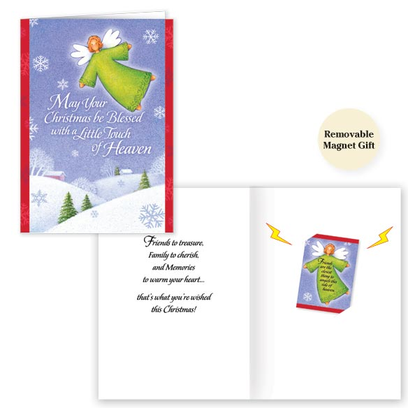 Angel Friend Magnet Christmas Card Set of 20