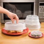 Items $9.99 and Under - Vented Microwave Plate Covers - Set of 5