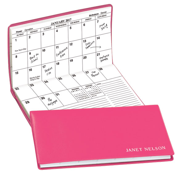 Pink Personalized 2 Year Pocket Planner